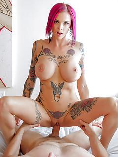 The full body tattooed busty milf